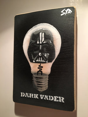 darth vader dark side light bulb star wars art picture stencil graffiti