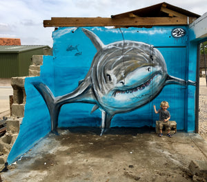 shark graffiti freehand
