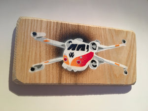 V-wing (micro), Star war Xwing mashed with VW Volkswagen Campervan 14 x 7cm Picture