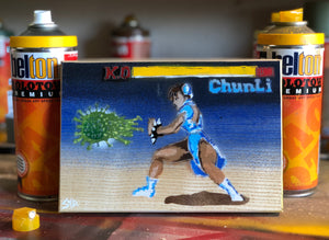 Sonic Doom - Streetfighter 2 - Chun Li - On ash wood - Signed Limited Edition