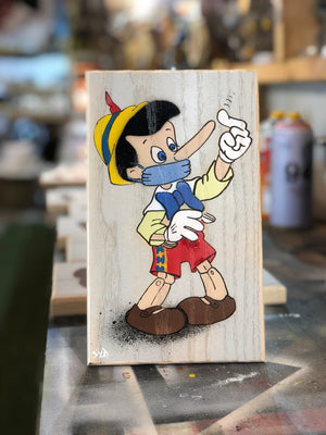Nose Rider - Pinocchio breaking the rules of 2020 life!! Signed and limited edition