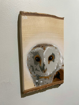 Barn Owl - freshly handmade November 2020 - Signed, limited edition 0n Ash wood
