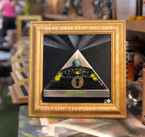 'Paused' - Glastonbury Lockdown 2020 artwork - Framed 3D wooden detail -  Signed Limited Edition - Great Christmas present for those who missed out this year.
