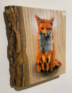 fox wood graffiti Stencil