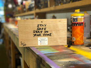 Stay Safe, Stay In Your Home - Graffiti Snail - Rainbow Version - Signed, Limited Edition - LAST ONE