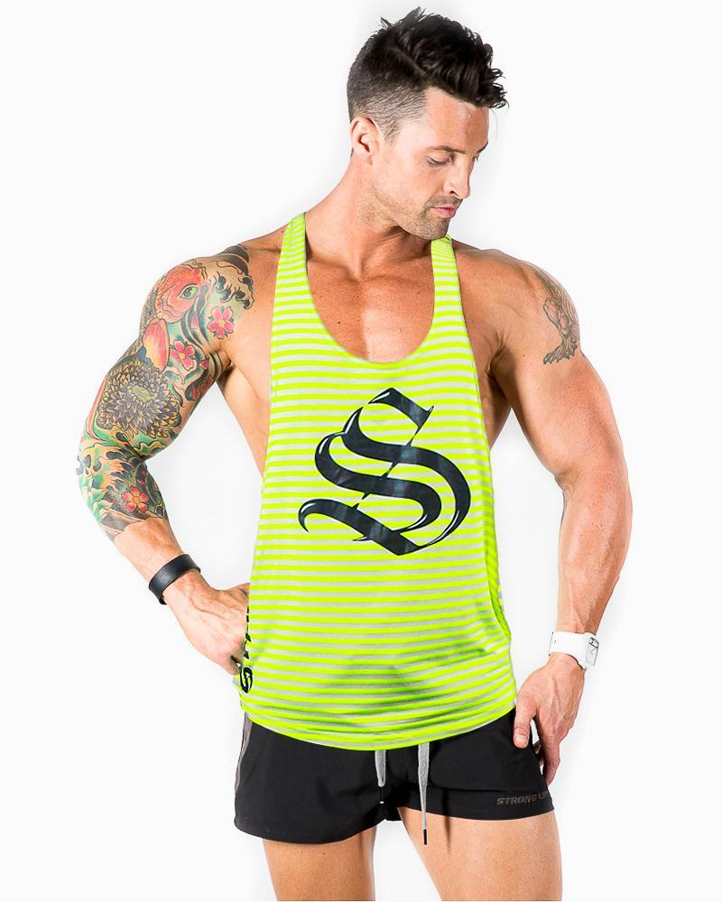 Aesthetic Series T-Back Singlet Mens Strong Liftwear S Luminance