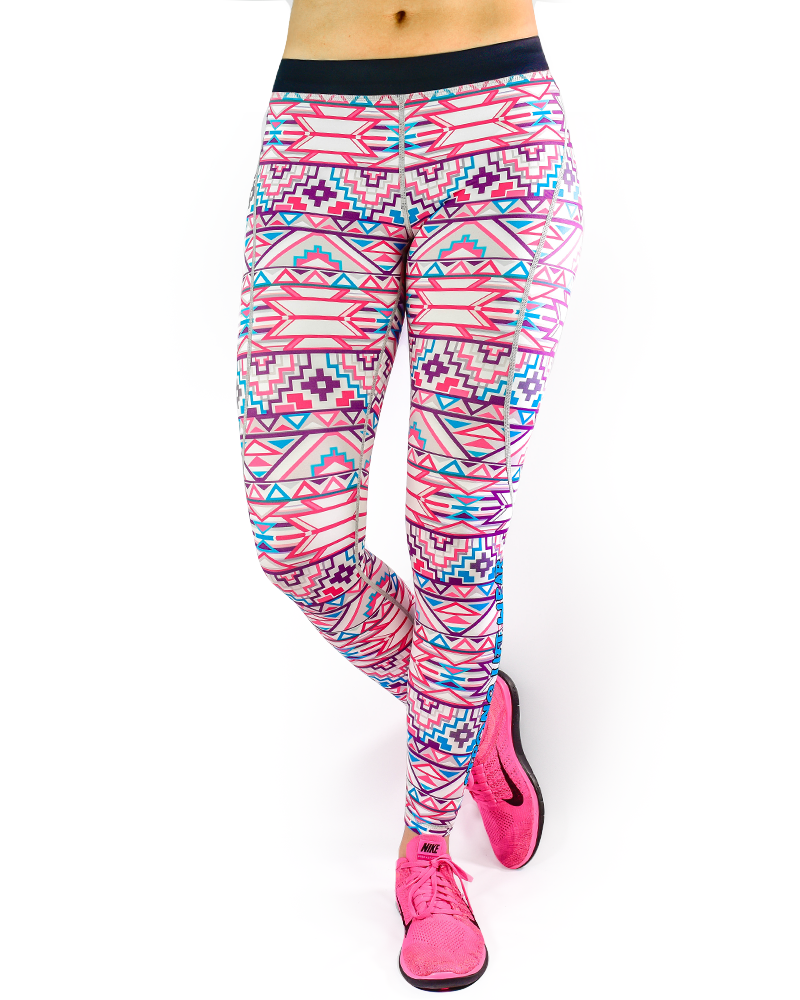 Aztec Series Compression Pants Womens Strong Liftwear XS Geometric