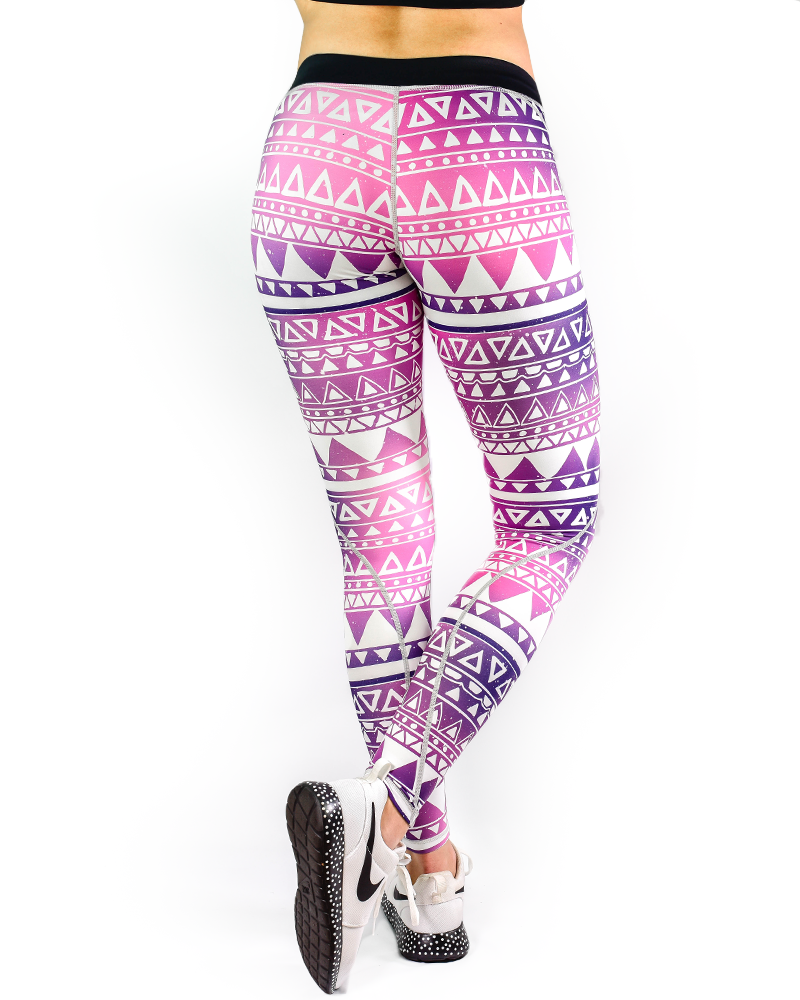 Aztec Series Compression Pants Womens Strong Liftwear XS Triangle