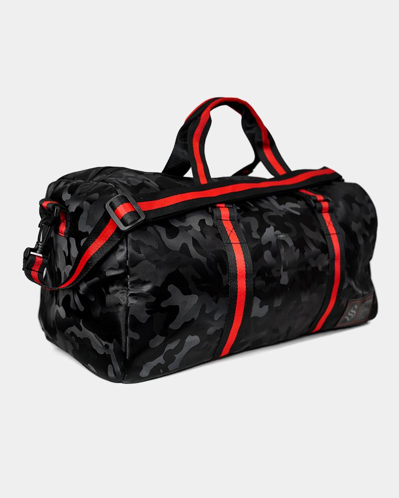 Camo Duffle Bag - Black Strong Liftwear