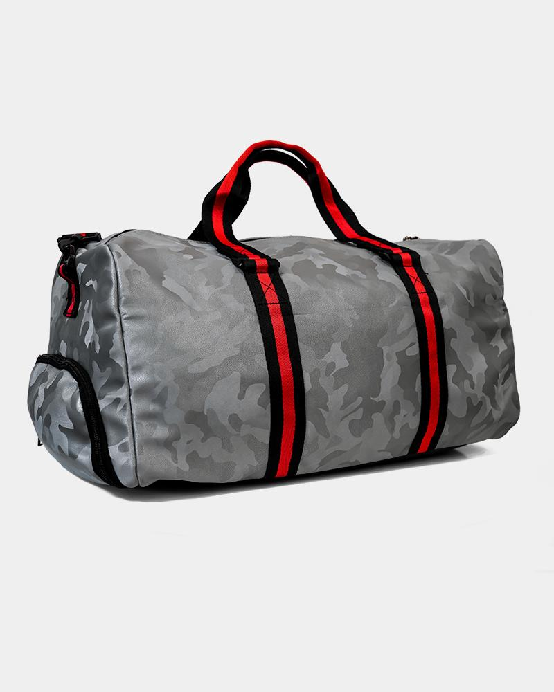 Camo Duffle Bag - Silver Strong Liftwear