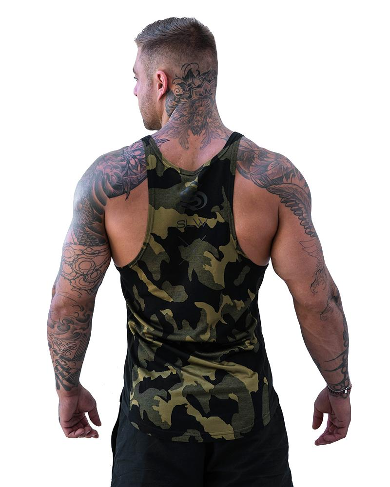 Camolite Taperback - Army Green / Yellow Mens Strong Liftwear