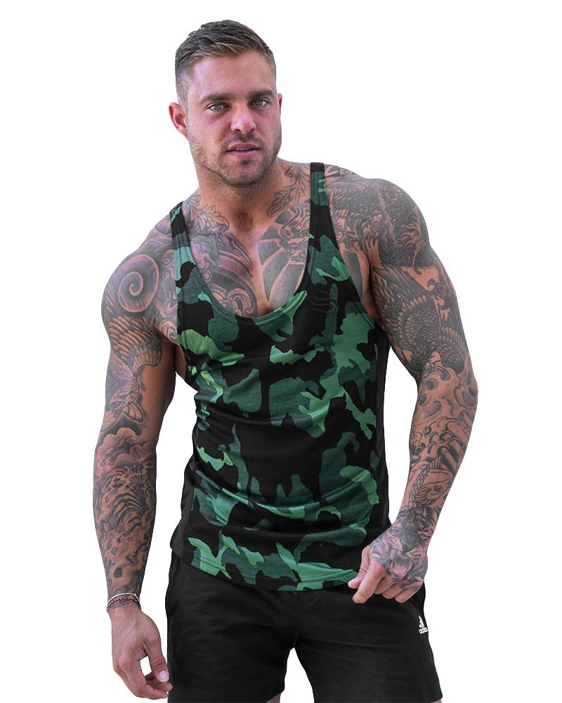 Camolite Taperback Singlet Mens Strong Liftwear S Green