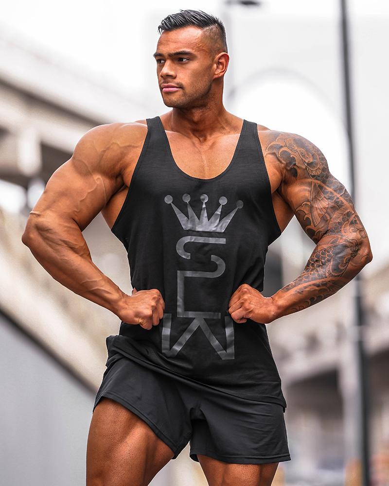 Crown Monarch Taperback Singlet Mens Strong Liftwear S Black