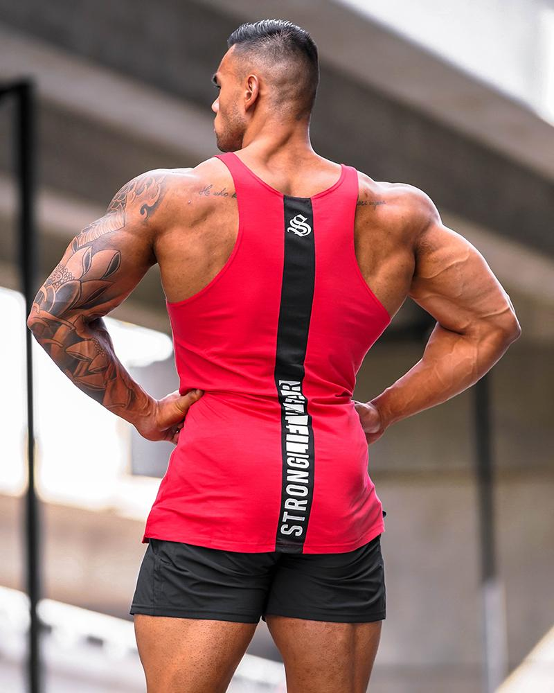 Crown Monarch Taperback Singlet - Red Mens Strong Liftwear