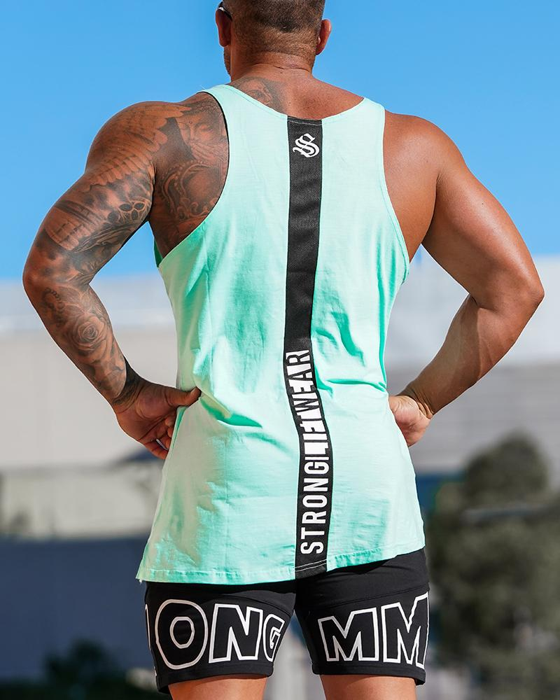 Crown Monarch Taperback Singlet - Tiffany Mens Strong Liftwear