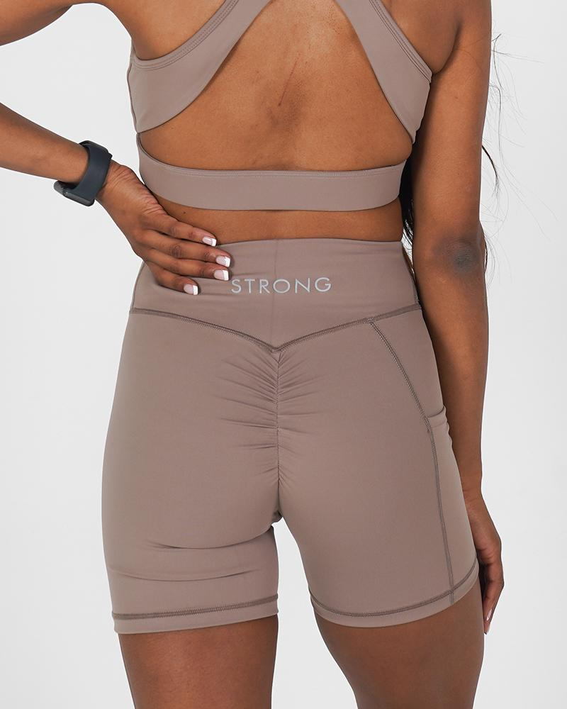 Define Shorts - Almond Womens Strong Liftwear