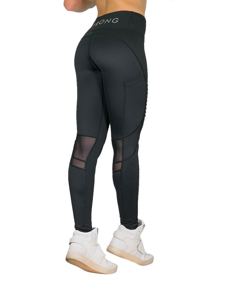 Element Series Compression Pants Womens Strong Liftwear XS Black