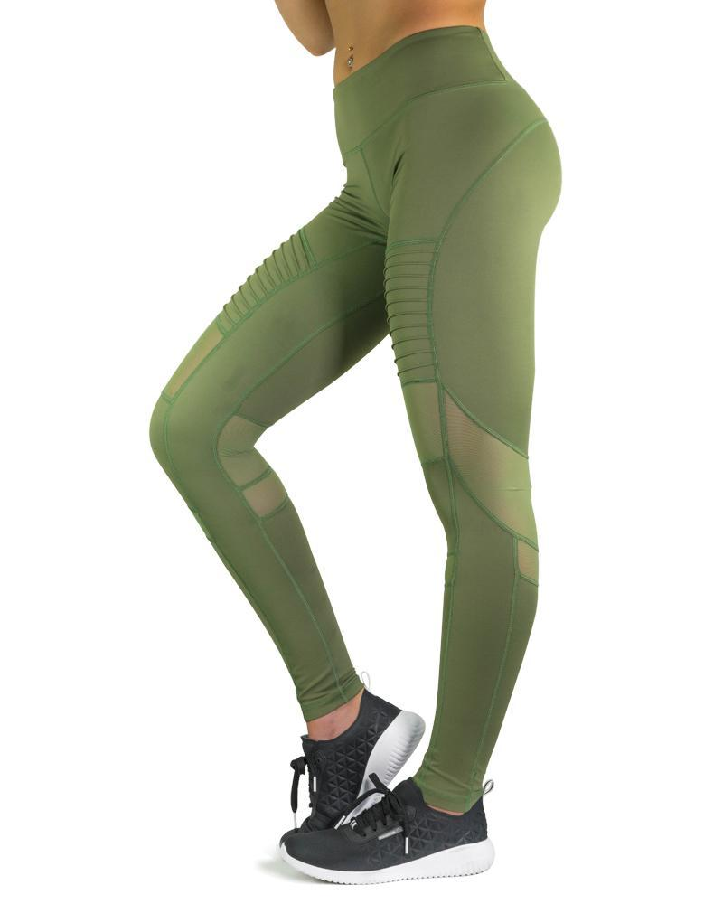 Element Series Compression Pants Womens Strong Liftwear XS Khaki Green