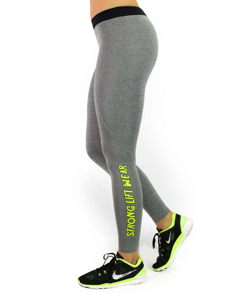Essential Series Compression Pants Womens Strong Liftwear XS Heather Grey