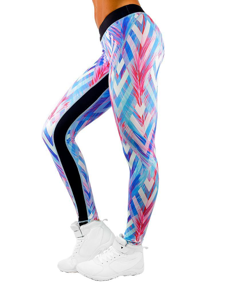 Force Series Compression Pants Womens Strong Liftwear XS Feather Blue