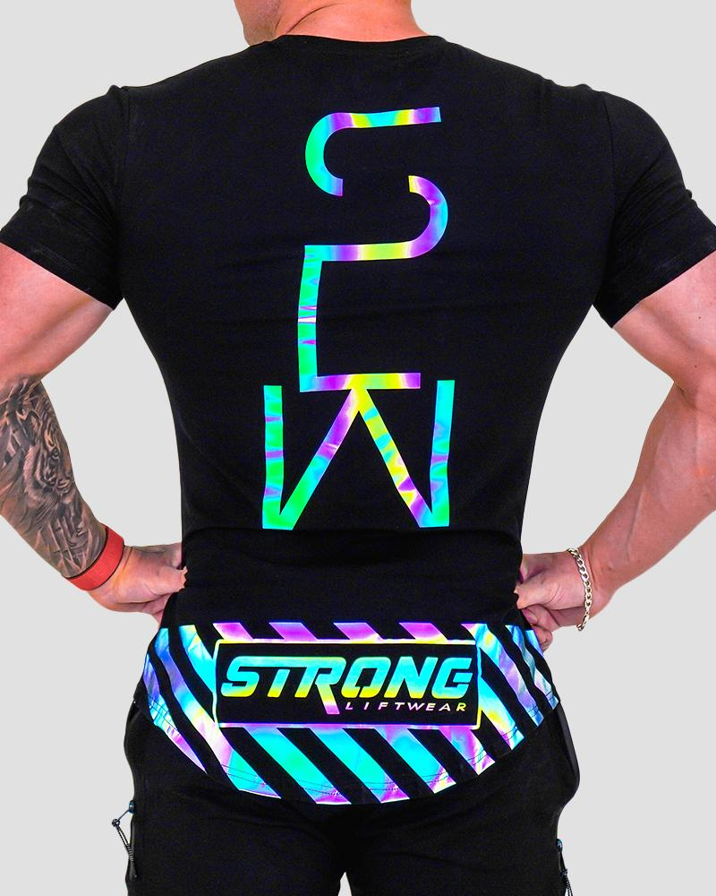 Harlequin Hazard Tee - Black Strong Liftwear