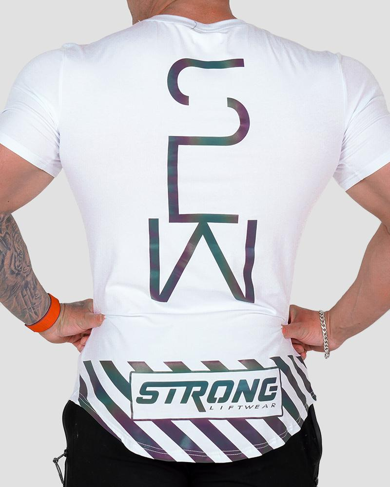 Harlequin Hazard Tee - White Strong Liftwear
