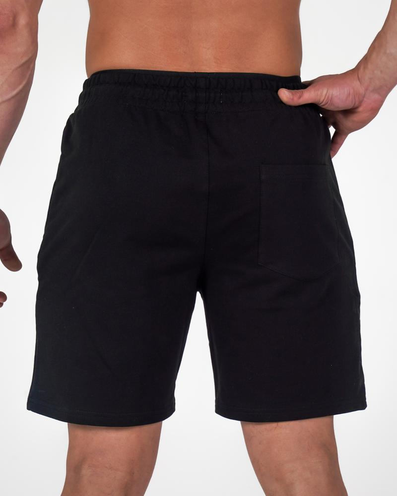 Harlequin Mid Shorts - Black Mens Strong Liftwear