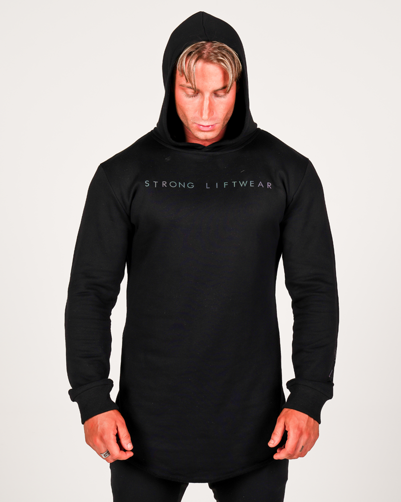 Harlequin Reflective Hoodie - Black Mens Strong Liftwear