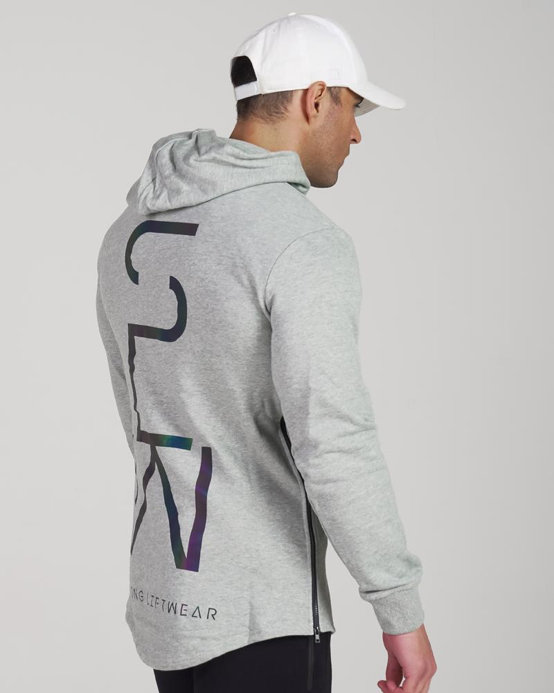 Harlequin Reflective Hoodie - Grey Mens Strong Liftwear