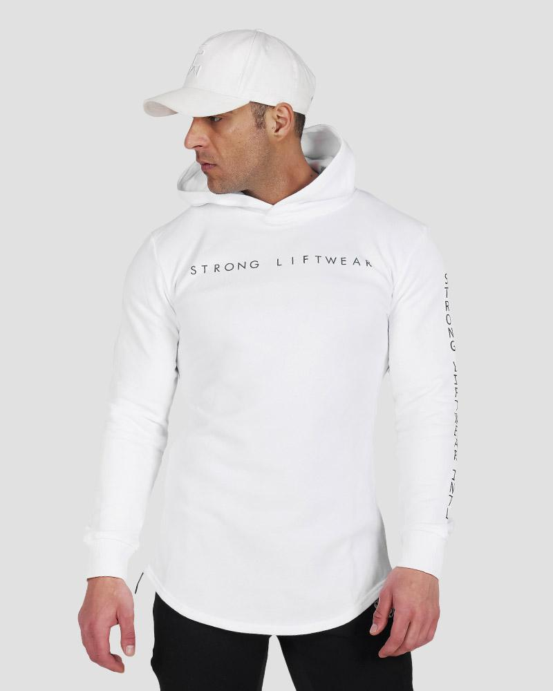 Harlequin Reflective Hoodie - White Mens Strong Liftwear