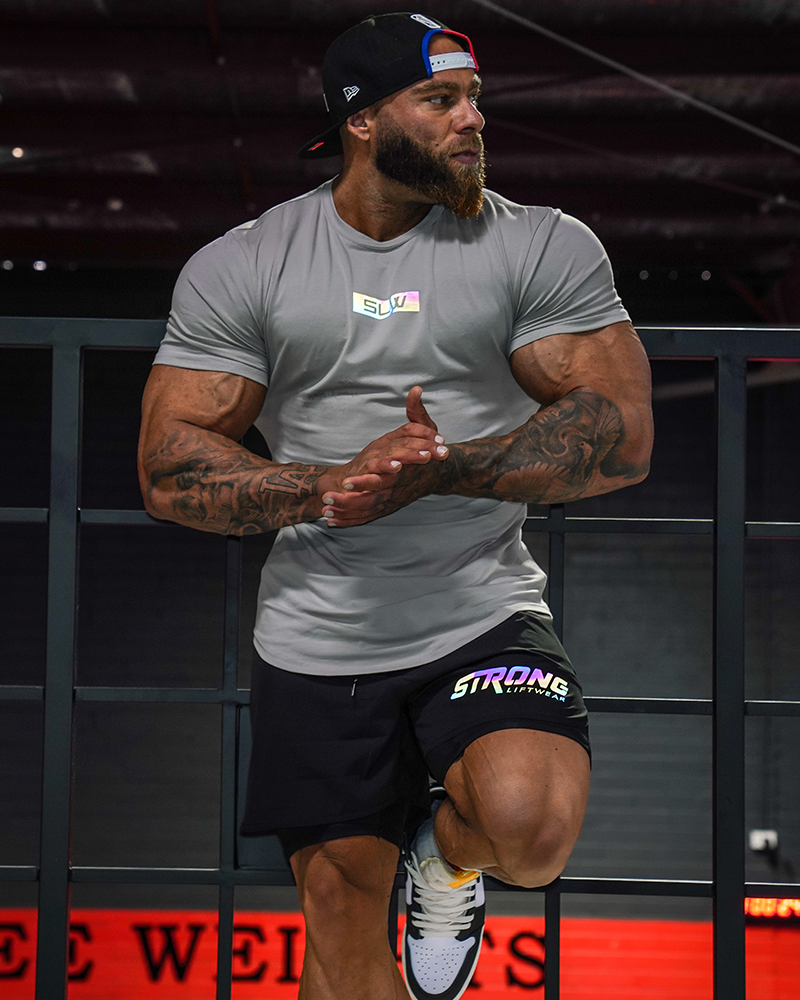 Harlequin Strong Tee - Grey Strong Liftwear