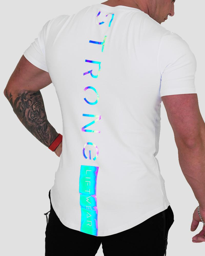 Harlequin Strong Tee - White tee Strong Liftwear