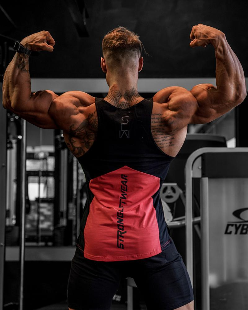 Harlequin Taperback - Red Strong Liftwear Australia