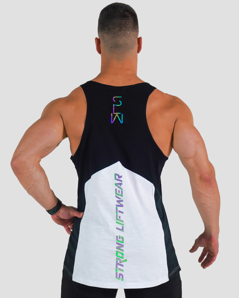 Harlequin Taperback - White Mens Strong Liftwear