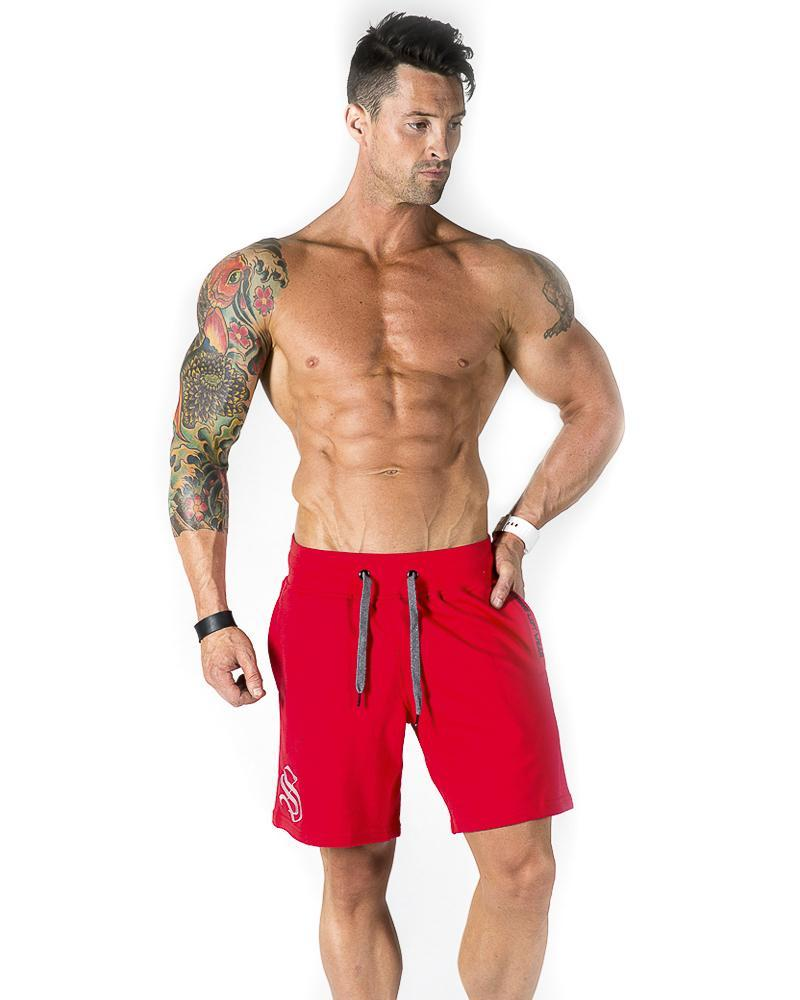 Mens Mid Shorts Mens Strong Liftwear S Red