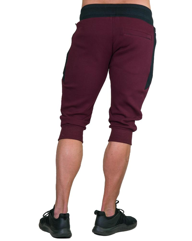 MeshTech 3/4 Training Pants - Burgundy Mens Strong Liftwear S