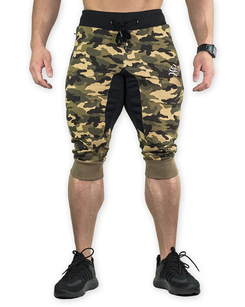 MeshTech 3/4 Training Pants - Camo Mens Strong Liftwear S