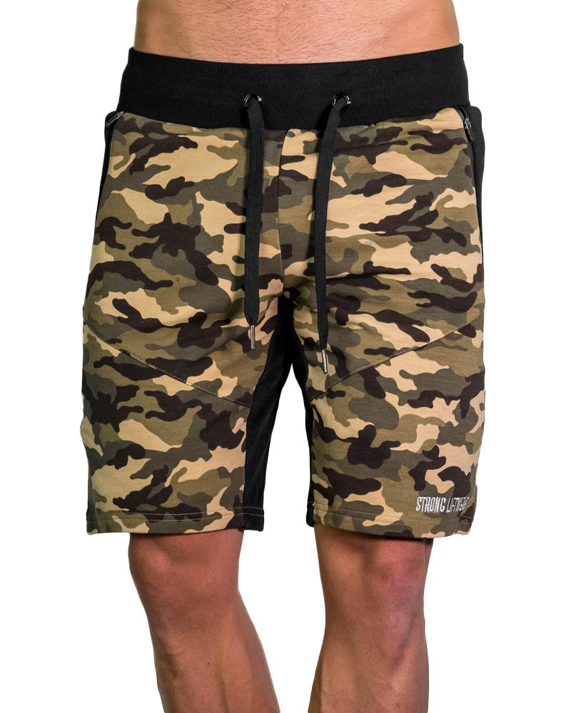 MeshTech Mid Shorts - Camo Mens Strong Liftwear L