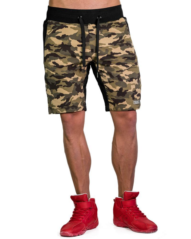 MeshTech Mid Shorts Mens Strong Liftwear S Camo