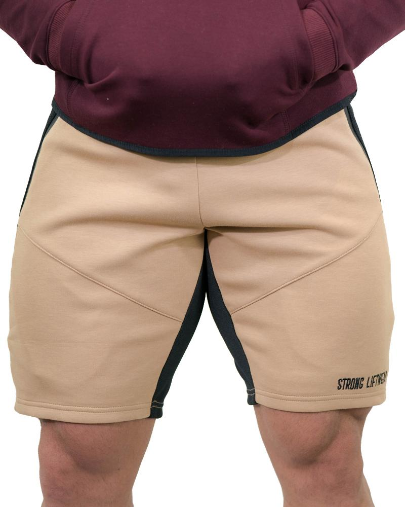 MeshTech Mid Shorts Mens Strong Liftwear S Tan