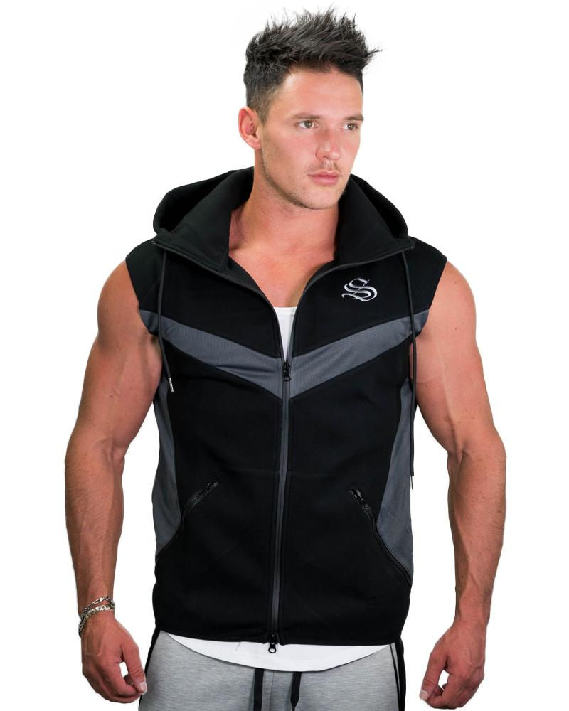 MeshTech Sleeveless Hoodie Mens Strong Liftwear