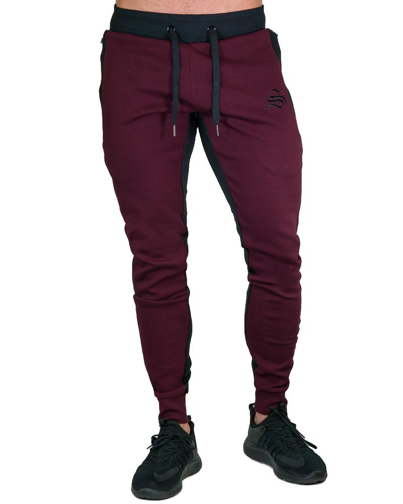 MeshTech Training Pants Mens Strong Liftwear S Burgundy
