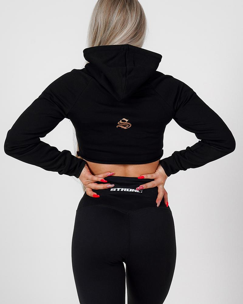 Phoenix Cropped Hoodie Womens Strong Liftwear