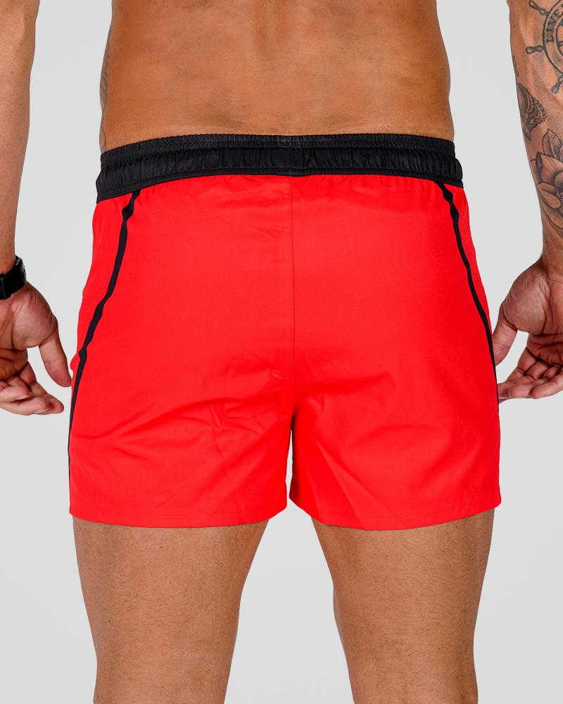Premium Lift Shorts - Red Mens Strong Liftwear