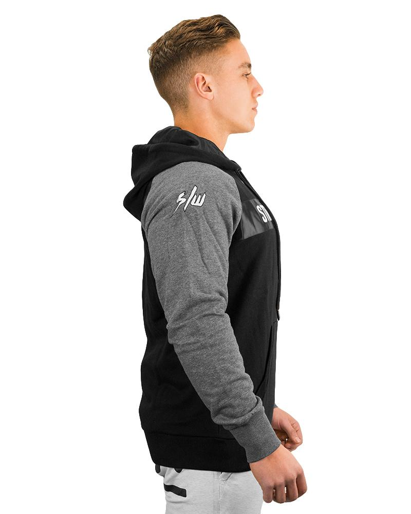 Raglan Silk Hoodie Mens Strong Liftwear