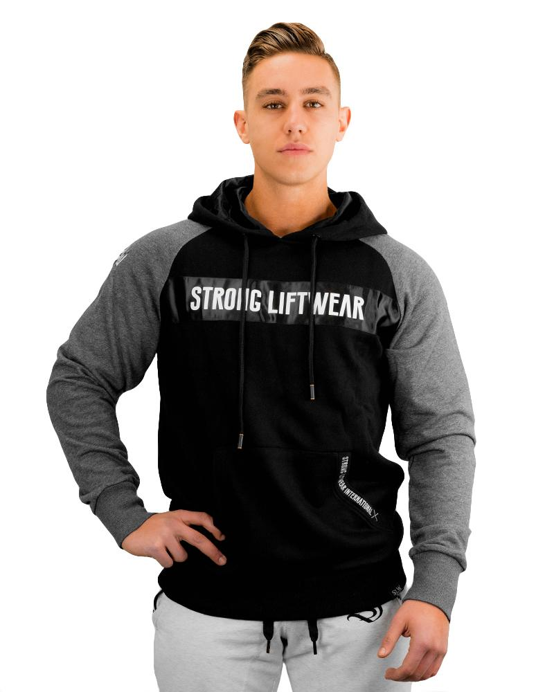 Raglan Silk Hoodie Mens Strong Liftwear L