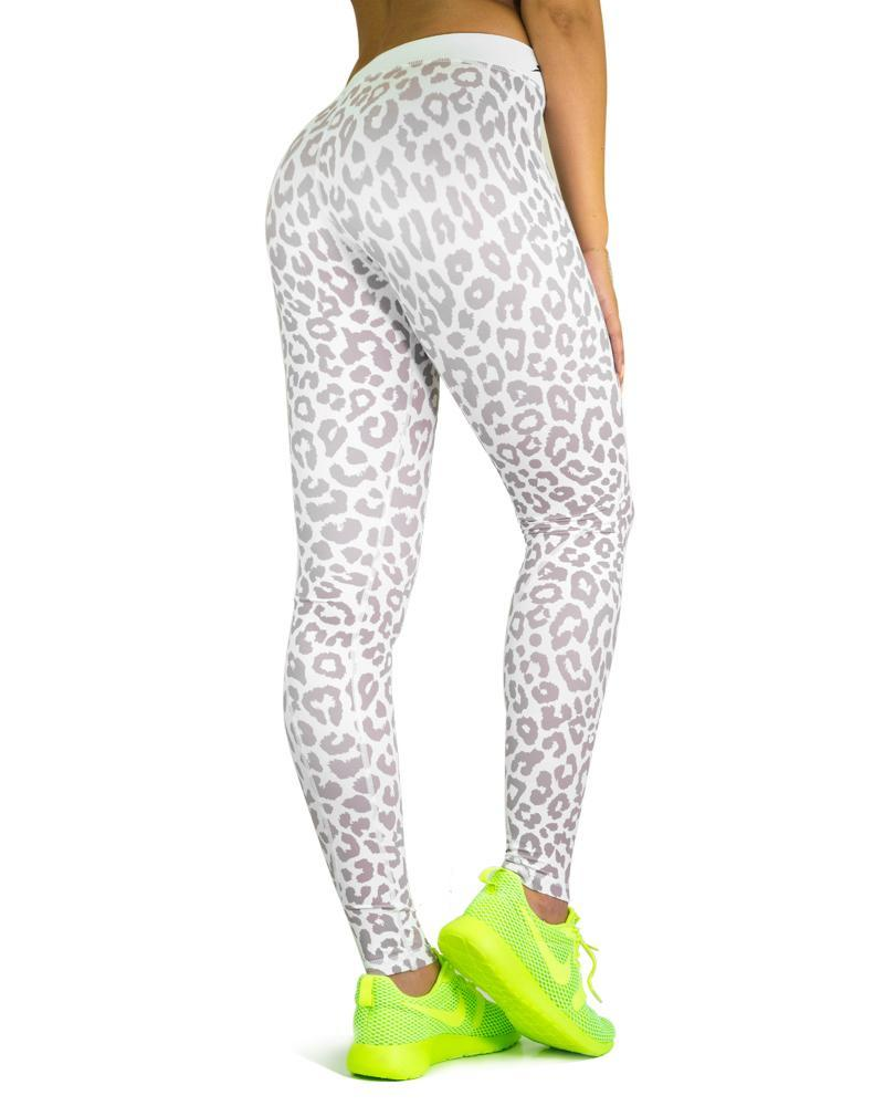 Safari Series Compression Pants Womens Strong Liftwear XS White Leopard