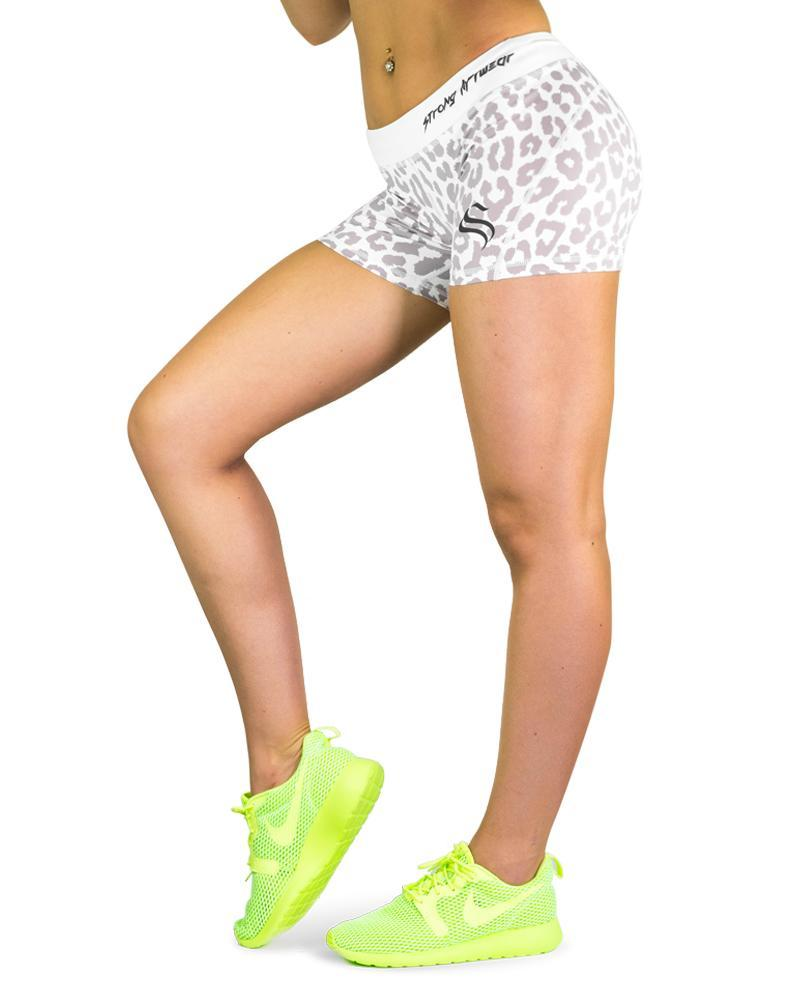 Safari Series Performance Shorts Womens Strong Liftwear XS White Leopard