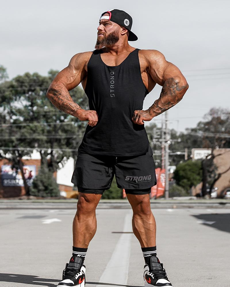 Tech Shorts - Black Shorts Strong Liftwear