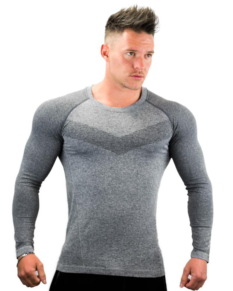 Ultra Seamless Long Sleeve Tee Mens Strong Liftwear S